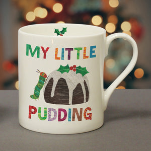 Personalised Very Hungry Caterpillar My Little Pudding Christmas Mug