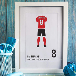 Personalised Football Shirt Framed Print A4