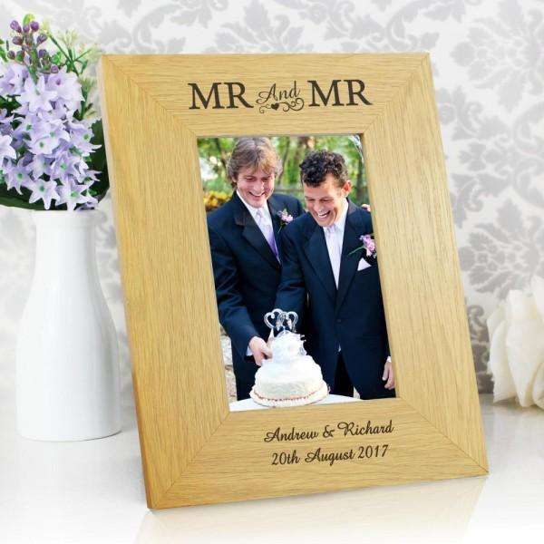 Personalised Mr & Mr Photo Frame from Pukkagifts.uk