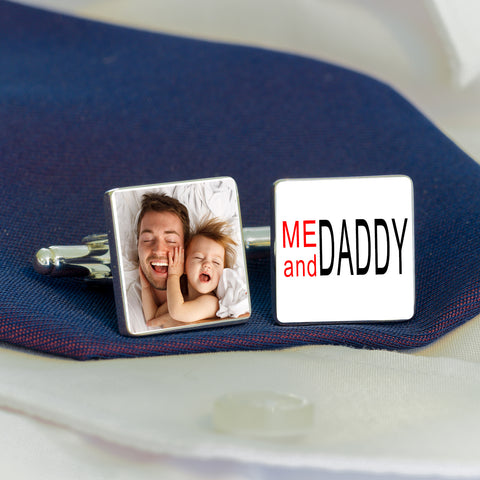 Me And DADDY Photo Cufflinks from Pukkagifts.uk