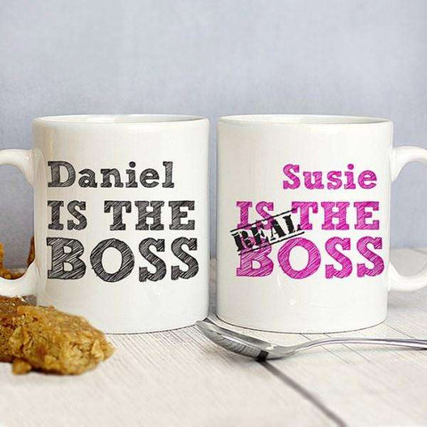 Personalised The Real Boss Mug Set from Pukkagifts.uk