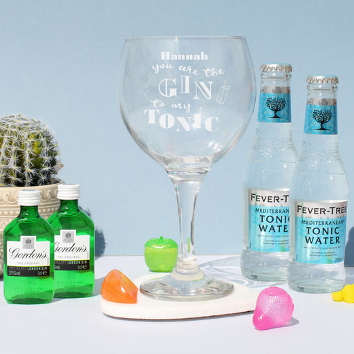 Personalised You Are The Gin To My Tonic Balloon Gin Glass
