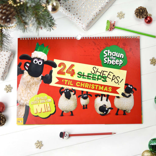 Shaun the Sheep 24 Sheeps Christmas Activity Advent Calendar from Pukkagifts.uk