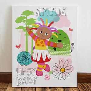 Personalised Upsy Daisy In The Night Garden Canvas