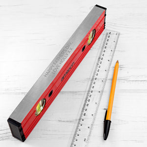 Personalised Spirit Level from Pukkagifts.uk