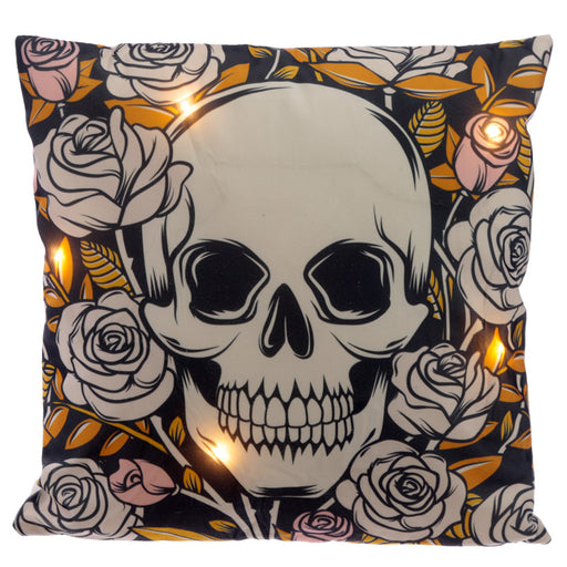Skulls and Roses LED Cushion