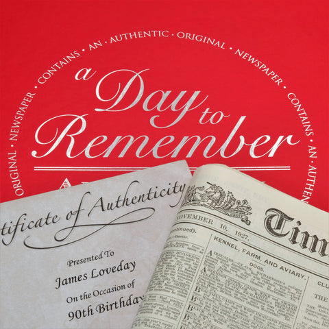 Original Newspaper From A Date Of Your Choice & Gift Box