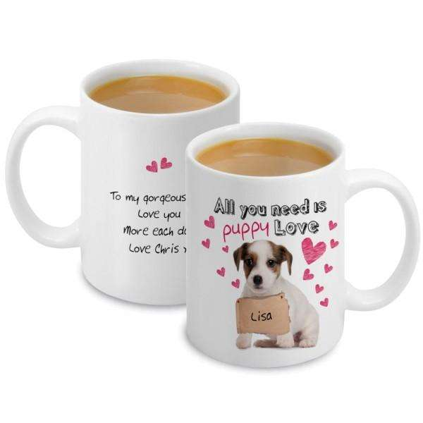Personalised Puppy Love Mug from Pukkagifts.uk