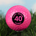 Personalised Birthday Age Pink Golf Ball