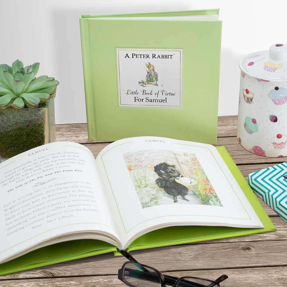 Peter Rabbit's Personalised Little Book of Virtue from Pukkagifts.uk