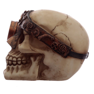 Steampunk Skull Ornament - Black