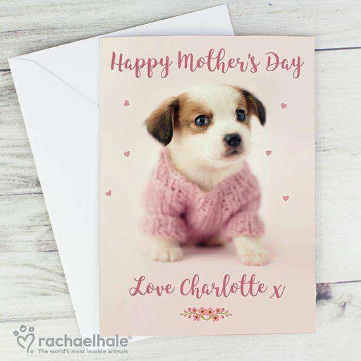 Personalised Rachael Hale Pink Puppy Card from Pukkagifts.uk