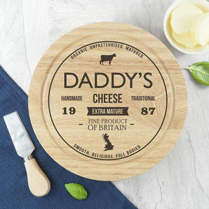 Personalised Traditional Brand Cheese Board Set,Pukka Gifts