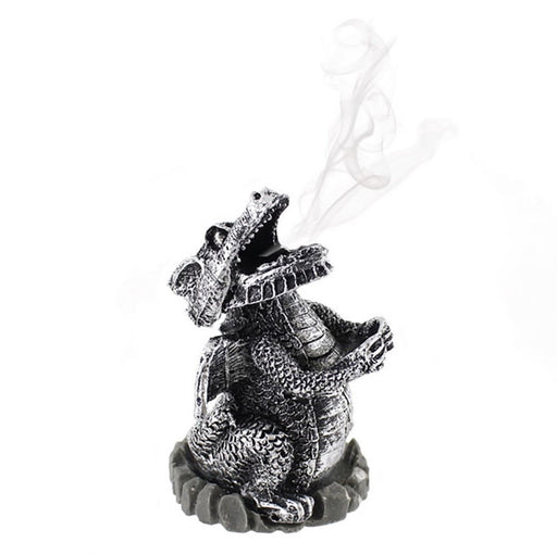 Silver Dragon Incense Cone Holder