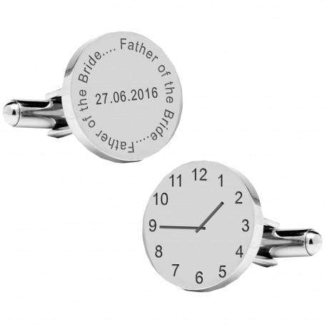 Personalised Father of the Bride Wedding Time Cufflinks from Pukkagifts.uk