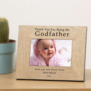 Thank You For Being My Godfather Photo Frame from Pukkagifts.uk