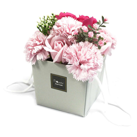 Soap Flower Bouquet - Pink Rose & Carnation,Pukka Gifts