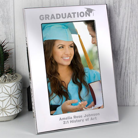 Personalised Graduation Photo Frame 6x4 Silver from Pukkagifts.uk