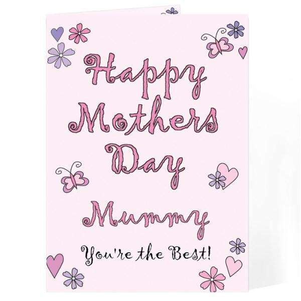 Personalised Flowers & Butterflies Happy Mother's Day Card from Pukkagifts.uk