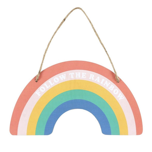 Rainbow Shaped Hanging Sign