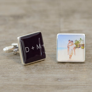 Initials & Photo Cufflinks