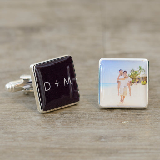 Initials & Photo Cufflinks from Pukkagifts.uk