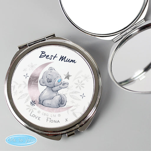 Personalised Moon & Stars Me To You Compact Mirror