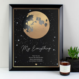 Personalised You Are My Sun My Moon Black Framed Print