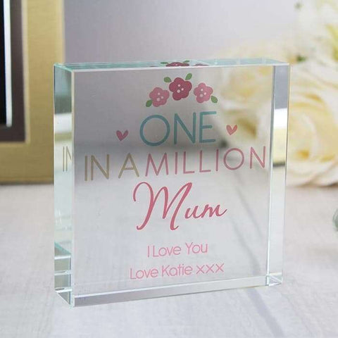 Personalised One in a Million Large Crystal Token,Pukka Gifts