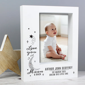 Personalised Baby To The Moon and Back Box Photo Frame 7x5 - Free UK Delivery