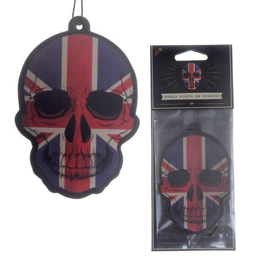Union Jack Skull Design Vanilla Scented Air Freshener from Pukkagifts.uk