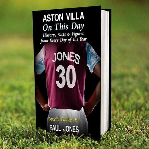 Personalised Aston Villa On This Day Book from Pukkagifts.uk