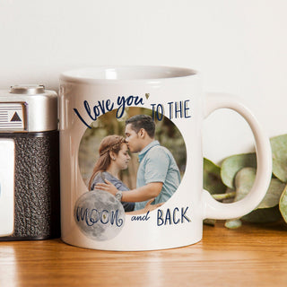 I Love You To The Moon & Back Photo Upload Mug