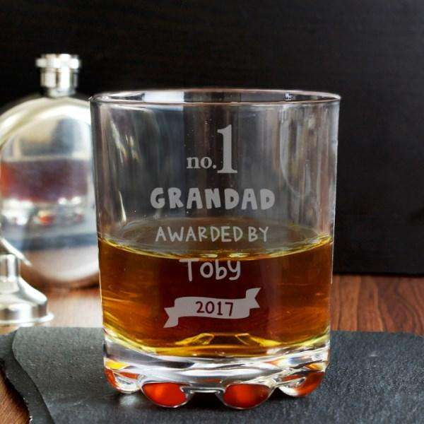 Personalised no.1 Awarded By Tumbler Glass from Pukkagifts.uk