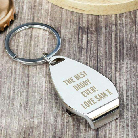 Personalised Any Message Bottle Opener Keyring from Pukkagifts.uk