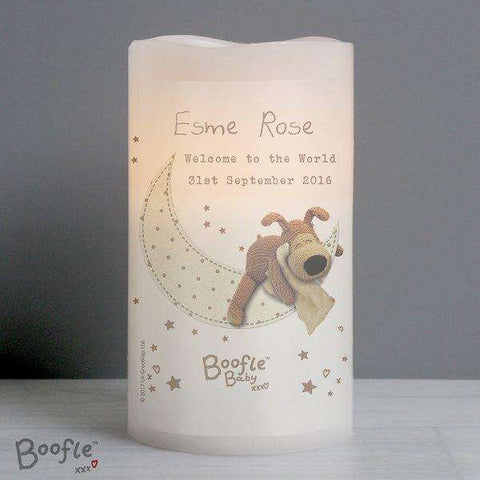 Personalised Boofle Baby Nightlight LED Candle from Pukkagifts.uk