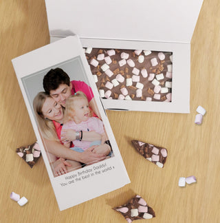 Personalised Photo Upload Letterbox Milk Chocolate Card