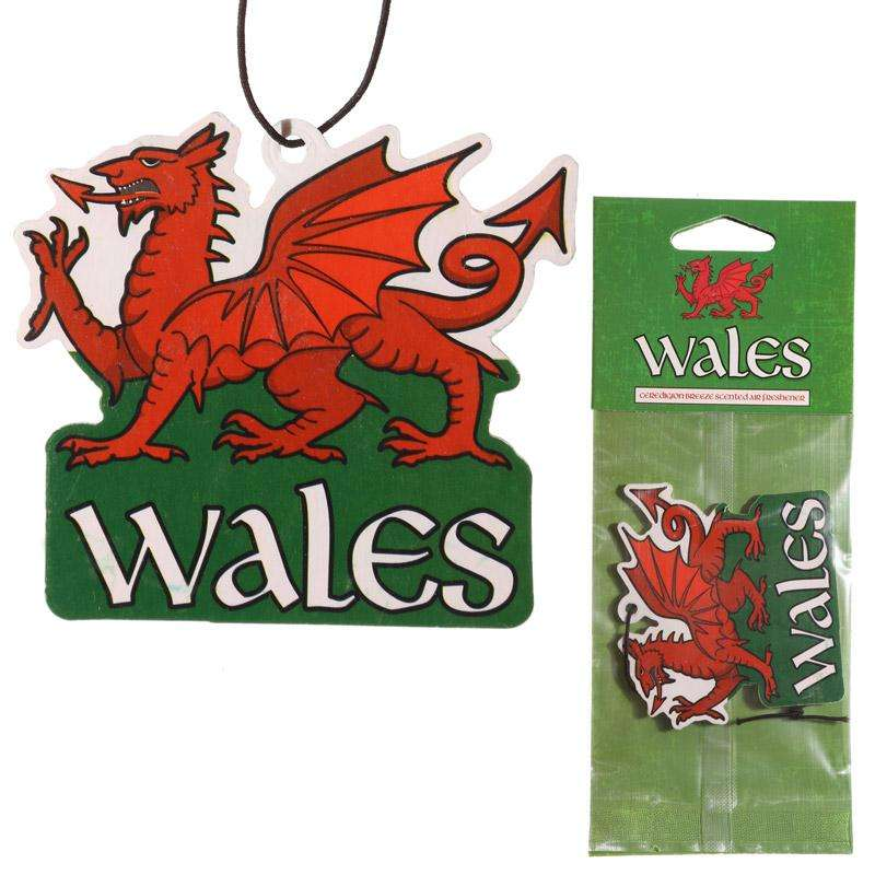 Welsh Dragon Ceredigion Breeze Car Air Freshener from Pukkagifts.uk