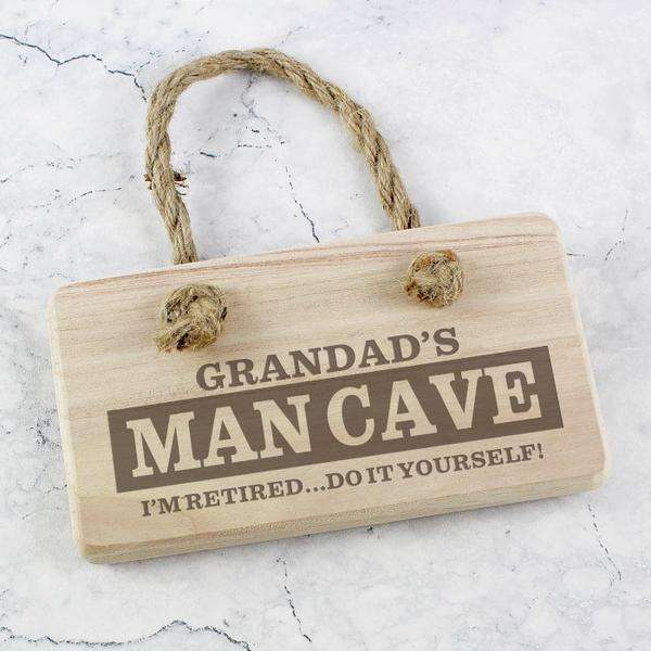 Personalised Man Cave Wooden Sign from Pukkagifts.uk