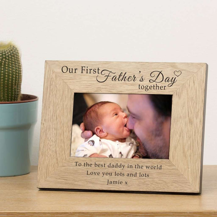 Personalised Our First Fathers Day Together Photo Frame 6x4 from Pukkagifts.uk