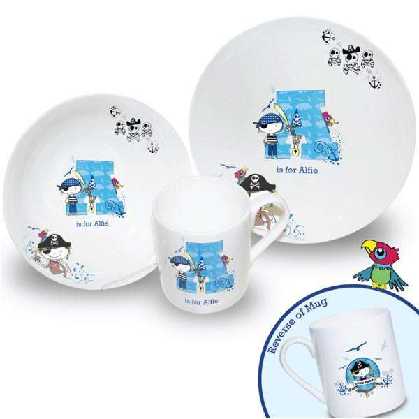Personalised Pirate Letter Breakfast Set from Pukkagifts.uk