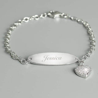 Personalised Children's Sterling Silver and Cubic Zirconia Bracelet from Pukkagifts.uk