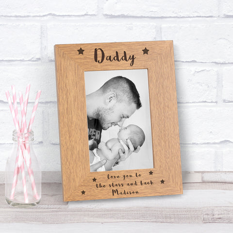 Personalised Daddy Love You To The Stars And Back Photo Frame from Pukkagifts.uk