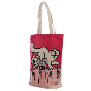 New Pink Simon's Cat Cotton Bag with Zip and Lining