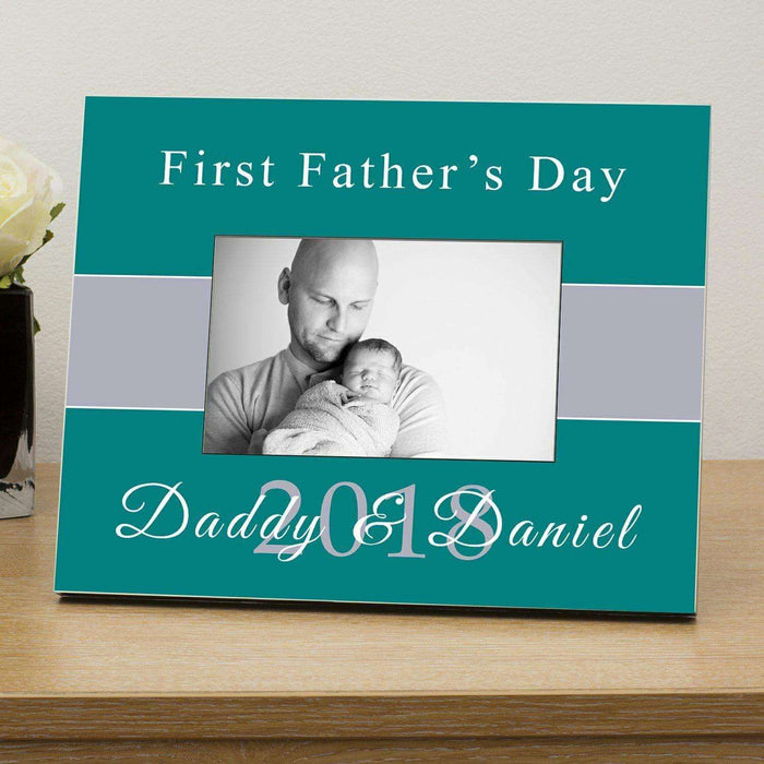 Personalised First Fathers Day Engraved Photo Frame from Pukkagifts.uk