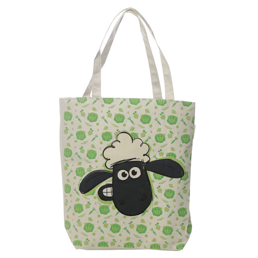Shaun the Sheep Pattern Cotton Zip Up Shopping Bag