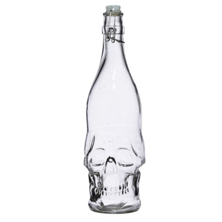 Skull Shaped Water Bottle 1L - Skulls & Roses