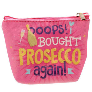 Prosecco Make Up Bag Purse from Pukkagifts.uk