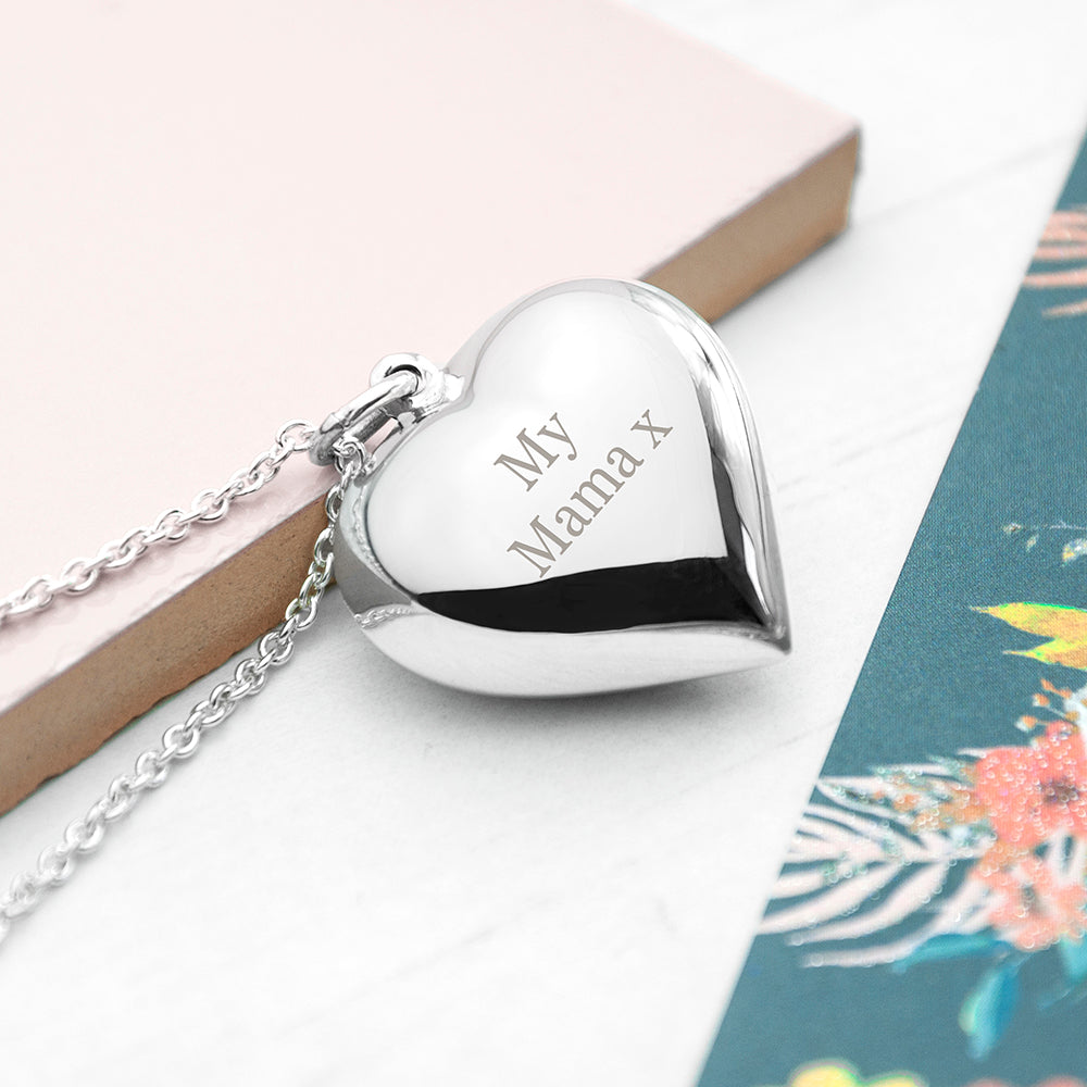 Personalised 925 Sterling Silver Heart Necklace