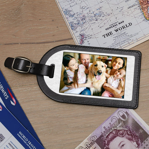 Premium Faux Leather Photo Luggage Tag